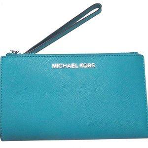 Michael Kors Adele Leather Smart Phone Wristlet